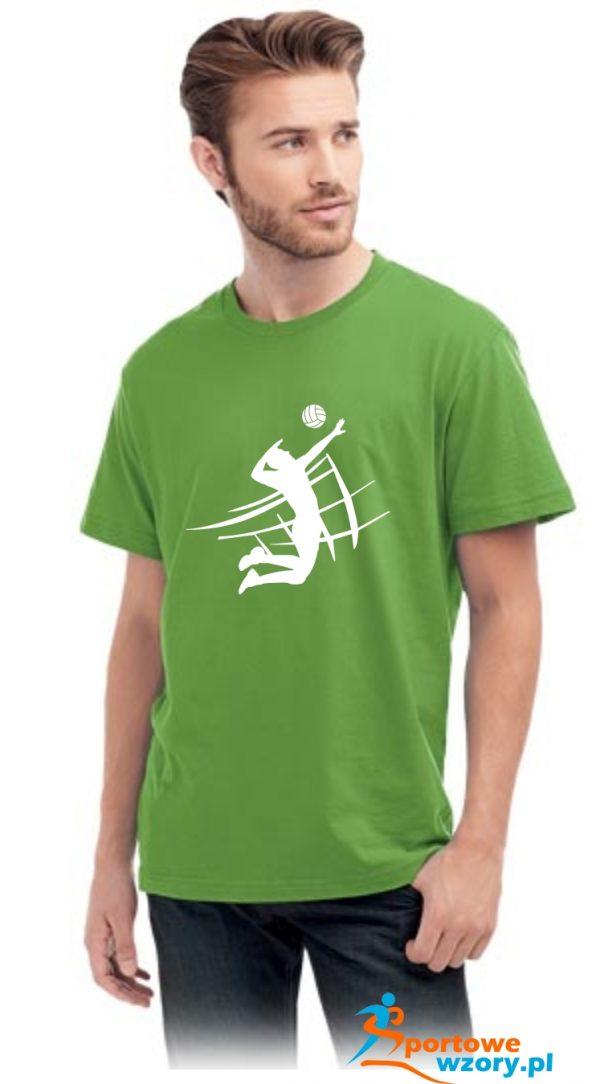 Męska koszulka Zielona
