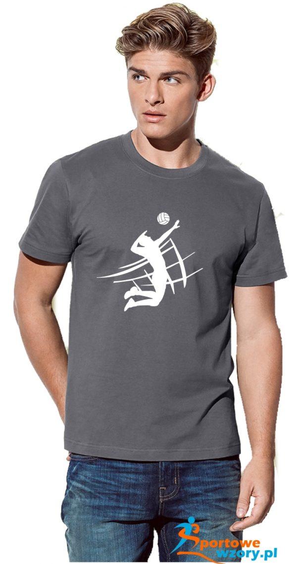 Męska koszulka Szara