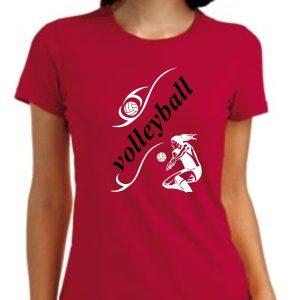 Damska koszulka Czerwona