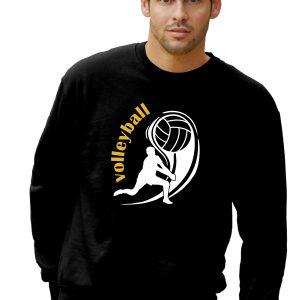 Bluza sportowa z nadrukiem Czarna