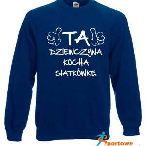 Bluza sportowa z nadrukiem Granatowa