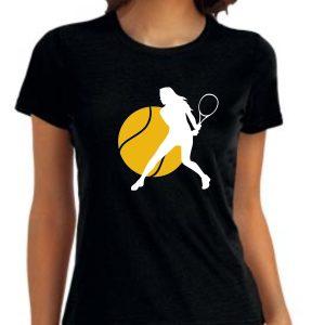 Damska koszulka Czarna