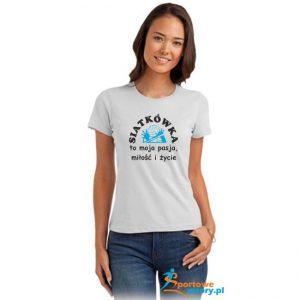 koszulka siatkarska damska z nadrukiem