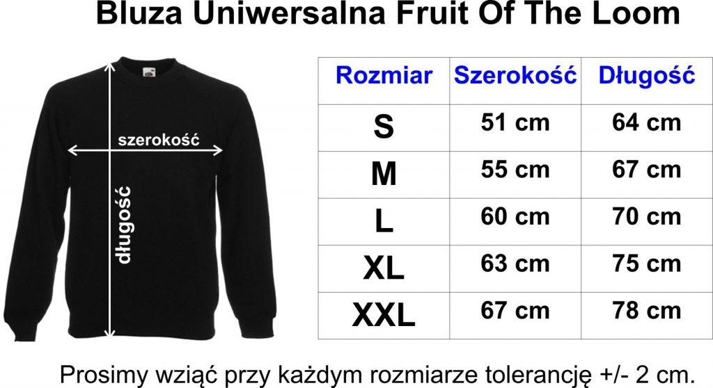 Tabela rozmiarów Bluzy
